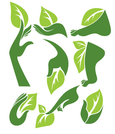 vector collection of ecological symbols Stock Illustratie