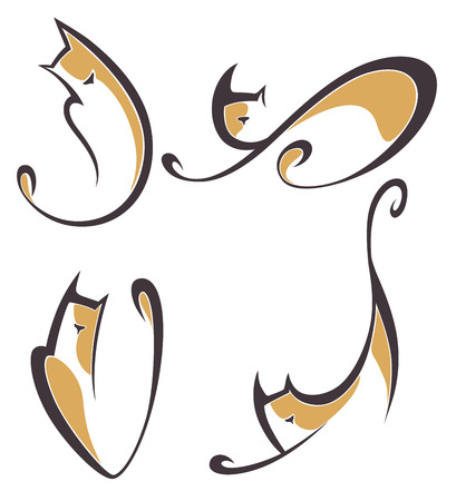 Raccolta vettore di simboli animali Archivio Fotografico - 22552388