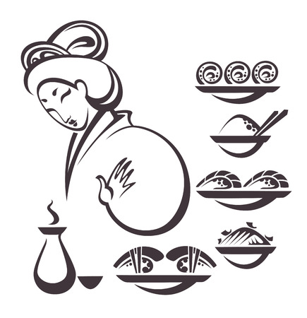 traditional food, vector collection Vector