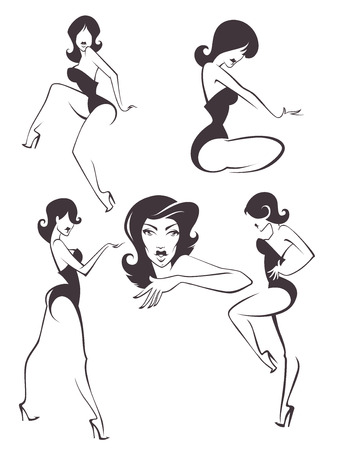 pin up: vector woman collection