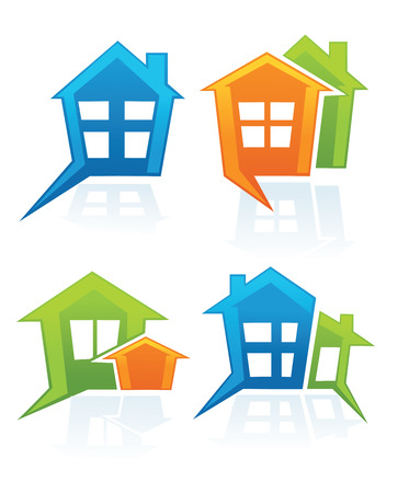 vector collection of property symbols and icons Vector