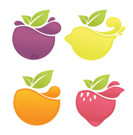 strawberry: vector collection of  stickers and emblems