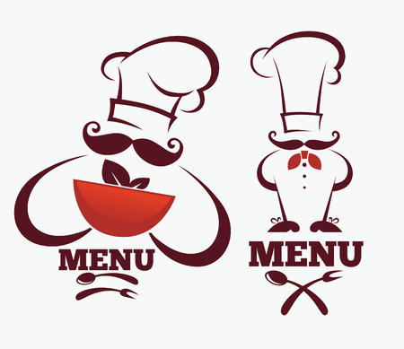 vector collection emblems for your menu Stock Illustratie
