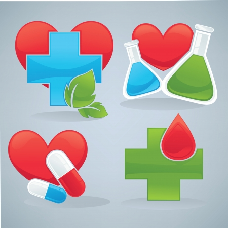 medical symbols: vector collection of symbols and icons