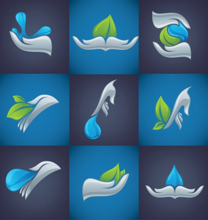 vector collection of ecological symbols and signs Stock Vector - 24473607