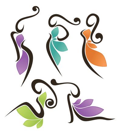 trekken: schoonheid tekens en symbolen Stock Illustratie
