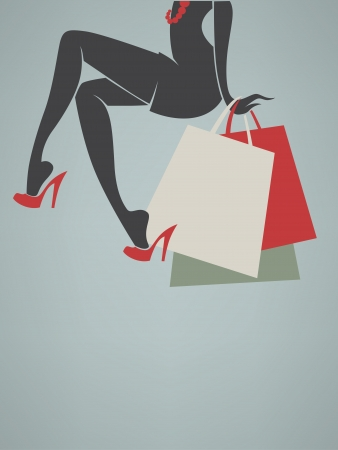 vector image of your shopping background Illustration