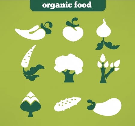 vector collection of  vegetables images and icons Vector