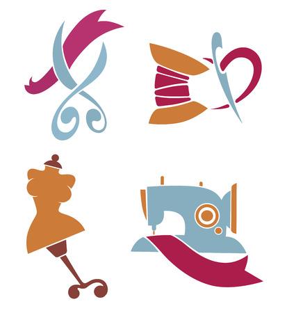 tijeras: vector conjunto de símbolos e iconos