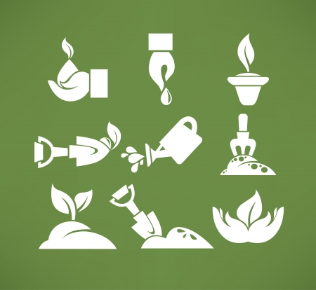 vector flat icons and symbols