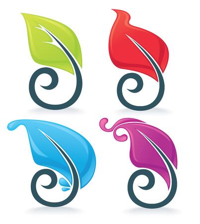 wave crest: vector decorative elements Illustration