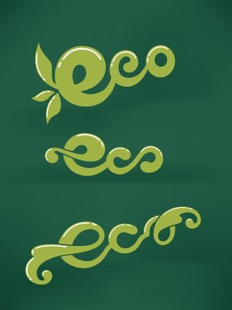 eco slogan: colecci�n slogan vector Vectores