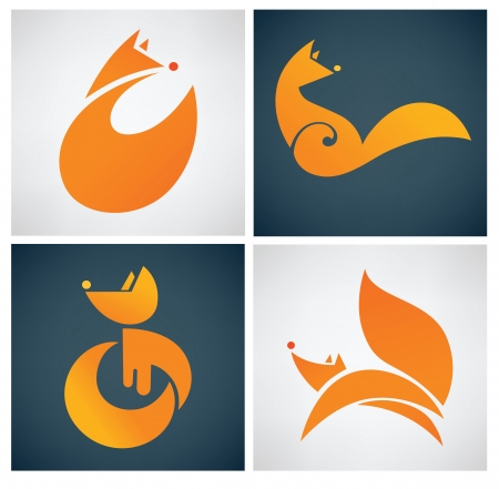 the tail: animales iconos vectoriales