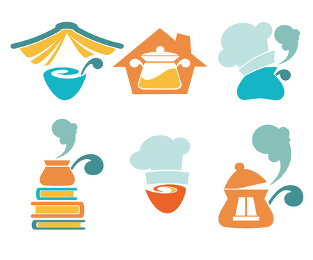 cooking book: vector icon and emblems collection