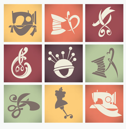 vector collection of symbols and icons in flat style Vector