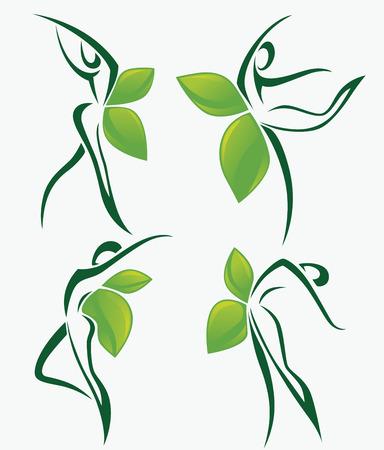 vector organic collection Illustration