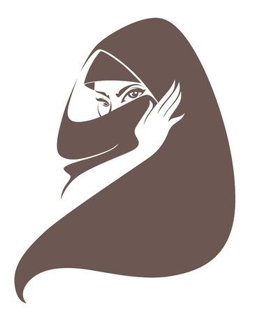 muslim fashion: vector illustration Illustration