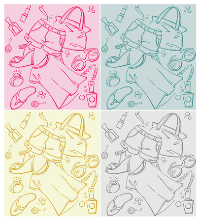 four different patterns Vector