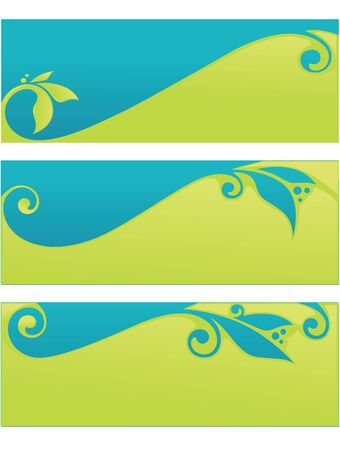 vector collection headers and banners Vector
