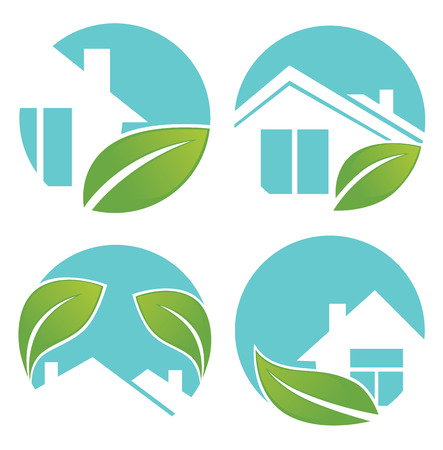 city and homes signs and icons Vector
