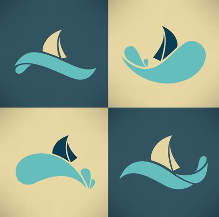 regatta: travel icons and emblems