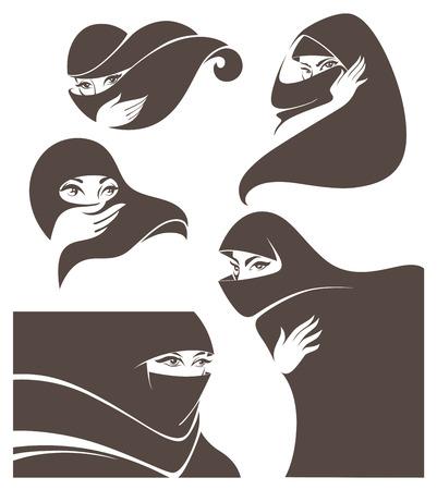 beauty women: colecci�n de vectores de ilustraci�n vectorial mujer Vectores