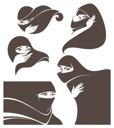 face cloth: vector collection of woman vector illustration