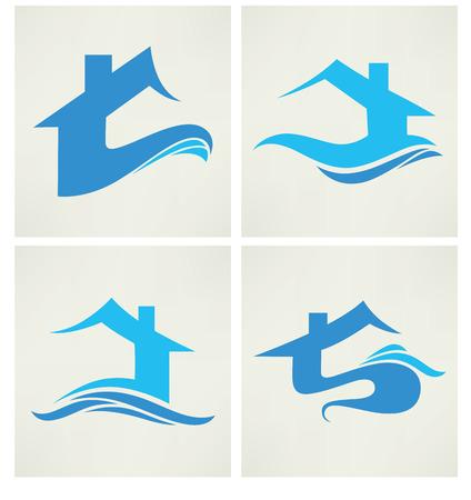 eco slogan: colecci�n de vectores de s�mbolos e iconos de propiedad