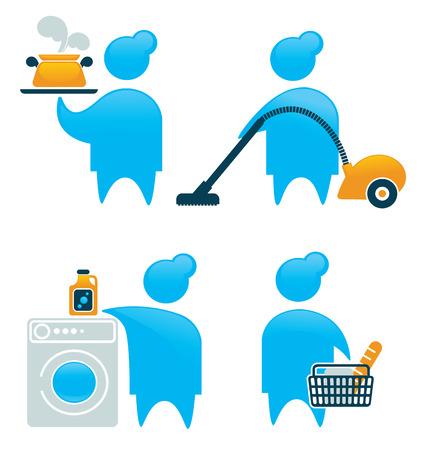 vector housework icons