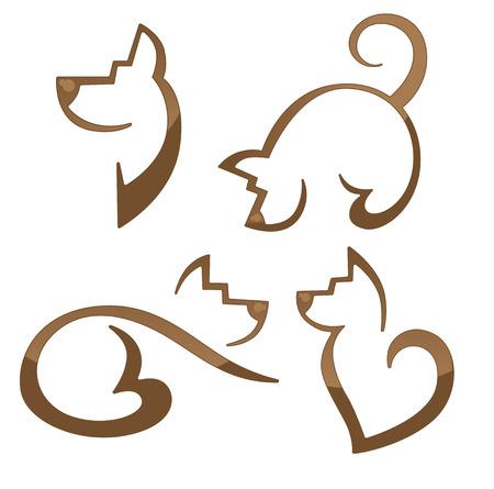vector collection of animals symbols Vector
