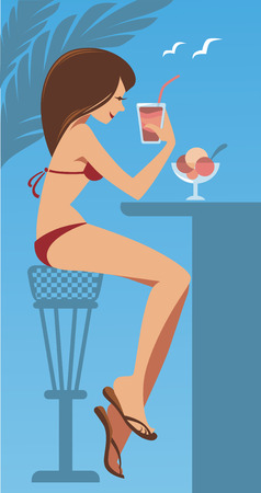 beach bar: vector illustration Illustration