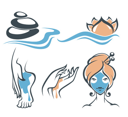 bath treatment: beauty vector illustration Illustration
