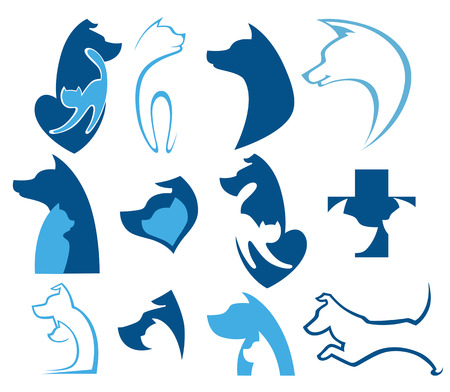 collection of animals symbols Vector