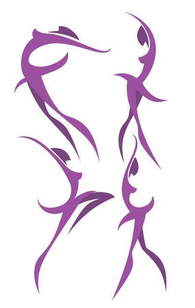 símbolos de baile y belleza