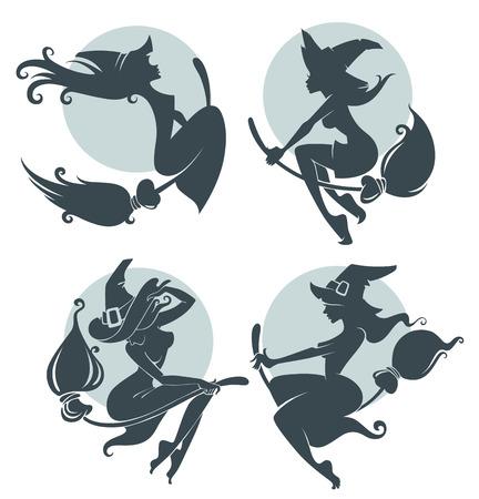 bruja: mujeres brujas ilustración