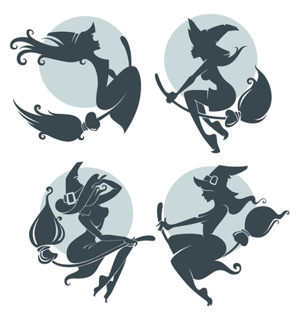witch women illustration Vector