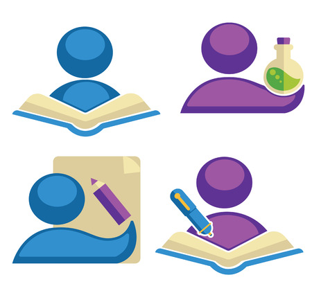 collection of educational symbols Illustration