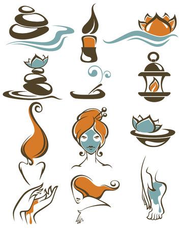 hair mask: sign, icons, emblems and symbols