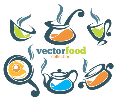 food icons and emblems Vector