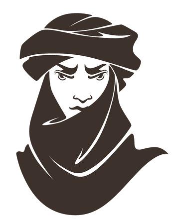 arab teen: vector illustration Illustration