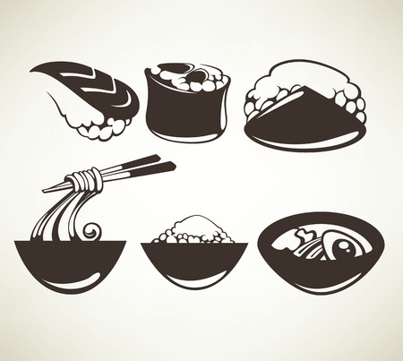 vector food symbols and emblems