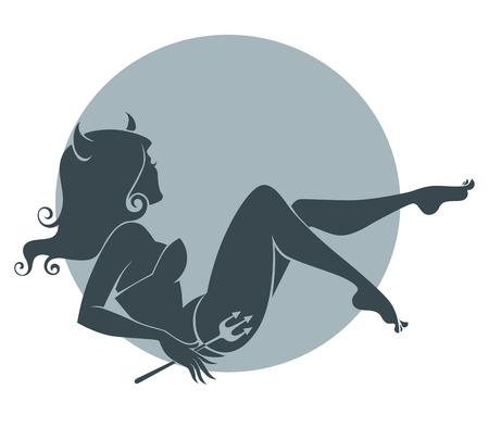 demonic: illustration for your halloween invitation