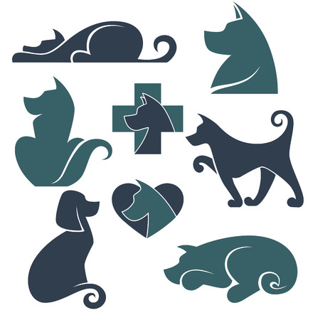 lick:  vector collection of dogs symbols Illustration
