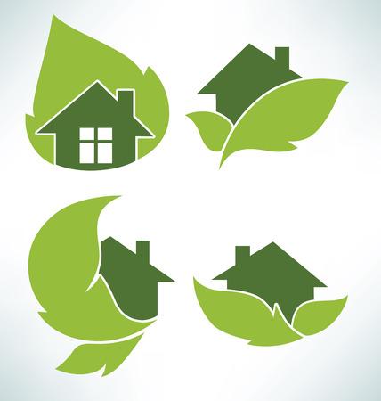 Vektor-Satz von ökologischen Zeichen und Symbole