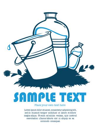ahorrar agua: ilustración agua limpia Vectores