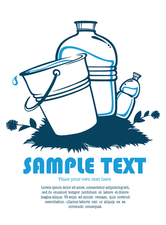 ahorrar agua: ilustraci�n agua limpia Vectores