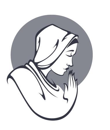 god figure: religion illustration