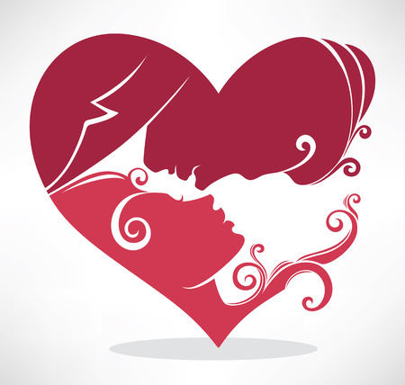 romantic greeting card Vector