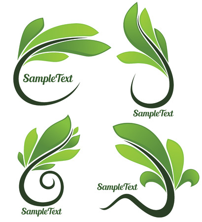 floral frames and symbols Vector