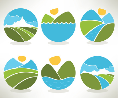 vector collection of landscape and nature Vector